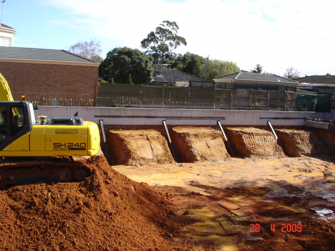 Services any piling conditions we can conquer basement for Basement foundation construction